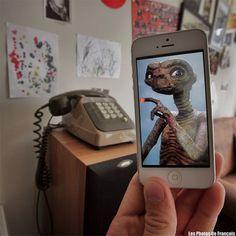 François Dourlen: o fotógrafo insere cenas de filmes em situações da vida real usando iPhone.