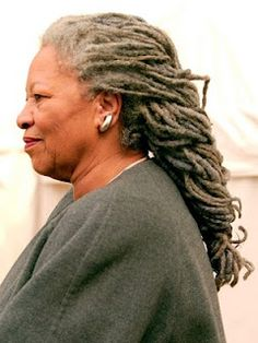 I WILL have these dreads someday.thank you, Toni Morrison High Society, Toni Morrison, Dreadlock Hairstyles, African American Women, American Girl, Glamour, Silver Hair, Black Is Beautiful, Gorgeous Gorgeous
