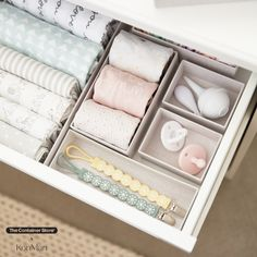 Part of our exclusive collection of sustainable products designed by Marie Kondo, these recyclable Hikidashi boxes make perfect homes for your cherished jewelry, baby items, or office supplies. Simple and beautiful, the 14 pieces fit easily within a drawer and are finished with a textured paper that resembles a linen weave. Nursery Organization, Storage Organization, Organizing, Sustainable Products, Sustainable Design, Reach In Closet, Clothes Storage, Marie Kondo, Container Store