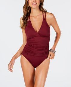 d0dd798911d9 La Blanca Island Goddess Underwire Tummy Control Cross-Back One-Piece  Swimsuit - Green 4. Underwire SwimwearKeep SwimmingOne Piece SwimsuitBlue  ...