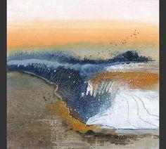 anuk naumann Pastel Landscape, Abstract Landscape, Abstract Art, Autumn Walks, Red Barns, Ciel, Fiber Art, Paths, Sunrise