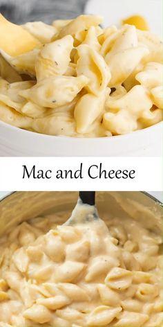 Macaroni Cheese Recipes, Cheesy Recipes, Crockpot Mac And Cheese, Mac And Cheese Homemade, Best Recipe For Mac And Cheese, Mac And Cheese Shells Recipe, Mac And Cheese Receta, Easy Creamy Mac And Cheese Recipe, Quick Mac And Cheese