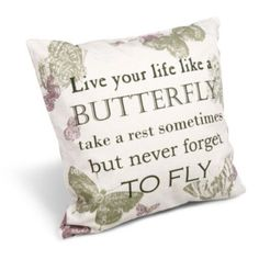 Delphine 'Live Your Life' Slogan Natural Cushion: Image 1
