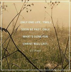 Only what's done for Christ will last