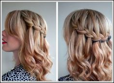 Waterfall Braid best haircuts for teen girls