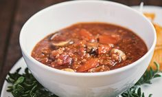 Quinoa and cannellini beans are royalty when it comes to leading nutrition! This soup has it all, including big flavor and heartiness. There's not even too much chopping for this one. You'll be able