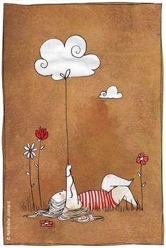 Einfachheit ist die Raffinesse der Tiefe. - Alda Merini - .. La semplicità è la raffinatezza della profondità. - Alda Merini - Bild: Nathalie Jomard ~ gesehen bei: Libreriamo https://www.facebook.com/libreriamo/