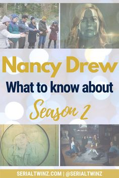 NANCY DREW SEASON 2 | Missing Nancy Drew? We do too, that's why we wrote a blog post about everything we know about the upcoming Nancy Drew Season 2 which should premiere on The CW on January 20, 2021. So click the pin to read all about Nancy Drew Season 2 starring the talented Kennedy McMann, Maddison Jaizani, Leah Lewis and more: news, cast, plot, spoilers, S1 Recap, trailer, promo, and more | #NancyDrew #DrewCrew #NancyDrewS2 #TheCW Cw Tv Series, Marvel Series, Drama Series, Book Series, Scott Wolf, Ally Mcbeal, Nancy Drew Books, Devious Maids, Fantasy Tv