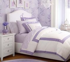 Personalized Raleigh Upholstered Camelback Bed & Headboard | Pottery Barn Kids