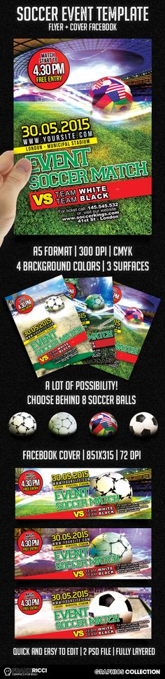 New Soccer Match Events template available on http://frankricci.it/soccer-event-1/