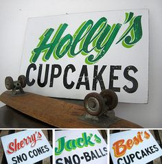 Would love to see a DIY on this vintage sign vs. the $150 pricetag for these.