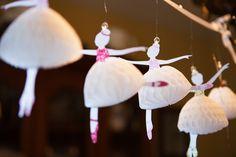 Ballerina Honeycomb Banner - great idea