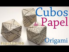 Tutorial. Caja Cubo Papel. Origami - YouTube Origami Cube, Origami 3d, Origami Videos, Origami Jewelry, Oragami, Crafts To Make, Arts And Crafts, Diy Crafts, Making Paper Mache