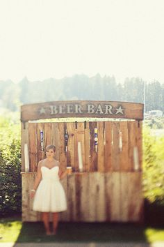 Awesome Custom Wedding Reception Beer Bar. This is cool! If we're able to build our own bar, we're shooting for something like this!