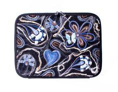 Laptoptas blauwe vlinder
