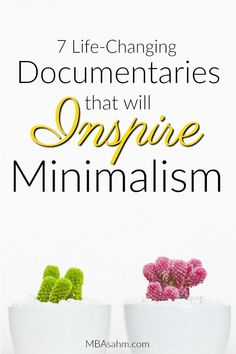 These minimalism documentaries will inspire you to completely change your life! From clothing and happiness to consumerism and life-style choices, each one of these documentaries will impact you in a different way. Documentarios Netflix, Netflix Documentaries, Planners, Minimalist Lifestyle, Minimalist Living, Less Is More, Live On Less, Frugal Living Tips, Consumerism