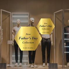 Father's Day Collection Retail Display Cling - Removable Window Vinyl Decal - Silver Shop Window Sticker - Father's Day Gold Window Cling Window Stickers, Window Decals, Vinyl Decals, Plastic Windows, New Fathers, Silver Shop, Window Clings, Shop Window Displays, Shop Plans