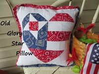Joy's Jots, Shots & Whatnots: Old Glory Star Pillow Sewing Tutorials, Sewing Crafts, Sewing Projects, Craft Tutorials, Craft Ideas, Pillow Crafts, Quilt Of Valor, Pillow Tutorial, Patriotic Crafts