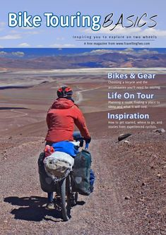 Bike Touring Basics guide to bicycle touring Free Magazines, Touring Bike, Tandem, Camping Gear, New Friends, Cycling, How To Plan, Biking, Bicycles