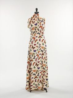 Elsa Schiaparelli (Italian, 1890–1973). Evening dress. The Metropolitan Museum of Art, New York. Brooklyn Museum Costume Collection at The Metropolitan Museum of Art, Gift of the Brooklyn Museum, 2009; Gift of Mrs. Edward G. Sparrow, 1969 (2009.300.1347a, b) #spring