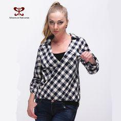 e03a28120487d shirt flower Picture - More Detailed Picture about 2016 Women Plaid Loose  Shirt Cotton Women Blouse New Autumn Plus Size Oversize Long Sleeve Female  Casual ...
