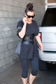 """Keep up with Kim in oversized sunnies by Céline  Click """"Visit"""" to buy #DailyMail"""