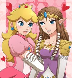 Peach and Zelda