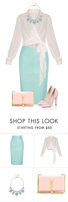 """""""Untitled #787"""" by dida-zalesakova ❤ liked on Polyvore featuring Balenciaga, Kate Spade, Yves Saint Laurent and Paper Dolls"""
