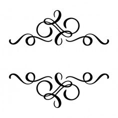 Vector floral calligraphy element flourish, hand drawn divider for page decoration and frame design illustration swirl line. Decorative silhouette for wedding cards and invitations. Draw Dividers, Vintage Tattoo Sleeve, Travel Trailer Decor, Vintage Cars For Sale, Vintage Style Tattoos, Page Decoration, Flower Background Wallpaper, Vintage Invitations, Sleeve Tattoos For Women