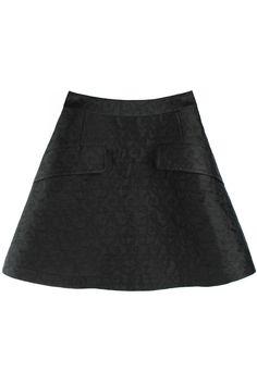ROMWE   High-rise Black Puff Skirt, The Latest Street Fashion