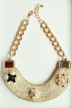 Collar Net Dorado En www.creacionesmas1.com