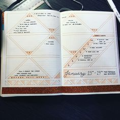 Love the spread, no idea what I'ma do with the rest of these triangles though  #bujo #staedtler #bulletjournaljunkies #bulletjournaling #bulletjournal #leuchtturm1917 #weekly #weeklies