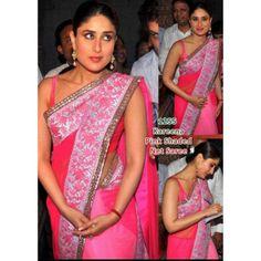 Buy Kareena Kapoor Net Fabric Bollywood Replica Saree - Dealtz.com