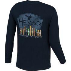 76fd6b36 Heybo Men's Duck Calls Long Sleeve T-shirt (Navy, Size XXX Large)