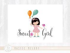 Children Logo Design Girl Logo  Logo Party Logo Design Bird Logo Boutique Logo Watermark