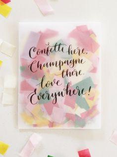Tissue confetti in envelope - Wedding Shop South Africa Wedding Confetti, South Africa, Envelope, Champagne, Shop, Envelopes, Store, Place Settings