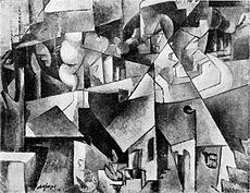 Nazi plunder - Albert Gleizes, 1912, Landschaft bei Paris, Paysage près de Paris, Paysage de Courbevoie, oil on canvas, 72.8 x 87.1 cm, missing from Hannover since 1937 Wikipedia, the free encyclopedia