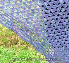 Châle bleu violet , en tuto !