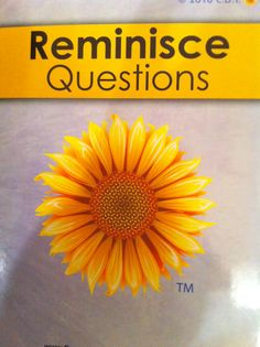 80 Reminisce questions that have a variety of uses. Use as a page of questions, or cut out and make reminisce cards, laminate if you want to. Facilitate communication and socialization. Engage a patient or redirect negative behaviors. Facilitate conversation and meaningful interaction. Go to store on www.consultantsindementiatherapy.com