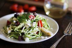 Gluten-free Mediterranean Zucchini Noodle Pasta via @Julia Mueller