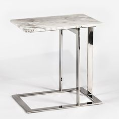 Murph End Table Table Top Colour: White Marble, Table Base Colour: Brushed Gold Steel Steel Furniture, Table Furniture, Furniture Design, Furniture Nyc, Furniture Movers, Cheap Furniture, Custom Furniture, Luxury Furniture, Office Furniture