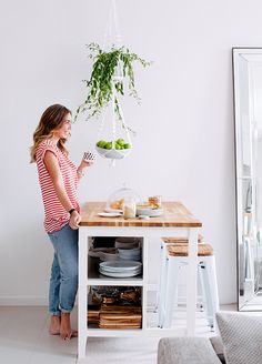 ikea-kitchen-adore-magazine --- I like the hanging fruit basket