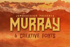 Murray - Vintage Style Font by JumboDesign on @creativemarket