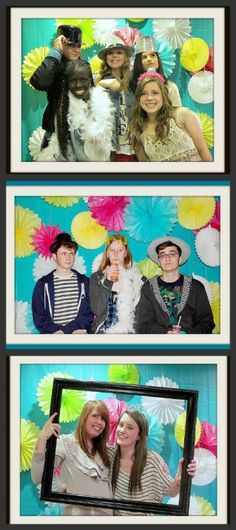 sweet 16 photo booth collage