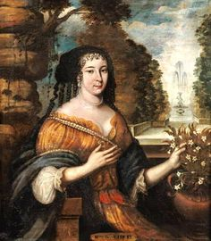 Madeleine de Scudéry, French author & philosopher (1607-1701), first half 17th century, French school