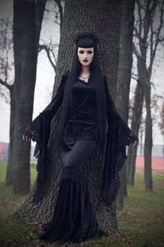 "Model: Obsidian Kerttu * Photo: John Wolfrik Clothing: Sinister - The Gothic Shop Necklace: AppleBite jewelry Welcome to Gothic and Amazing  www.gothicandamazing.org """