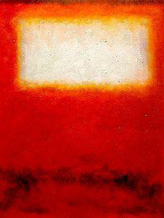 White over Red 2  Mark Rothko (inspired by)