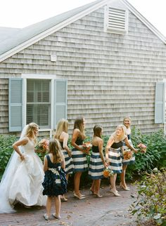 e+a's cape cod wedding :: florals, styling + planning by lovely little details, photography by Stacey Hedman **i want that bridesmaid dress*** Nantucket Wedding, Cape Cod Style, Cape Cod Wedding, Bridesmaid Dresses, Wedding Dresses, Bridesmaids, Nautical Fashion, Nautical Wedding, Wedding Styles