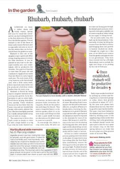 Head Gardener Tom from Gravetye Manor writes a column in Country Life Magazine
