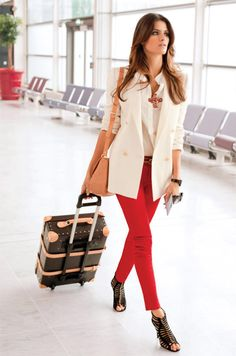 You don't have to wear sweats to get on a plane! Please remember this the next time you travel!